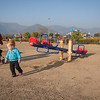 Sienna enjoyed this huge playground in a park in Islamabad