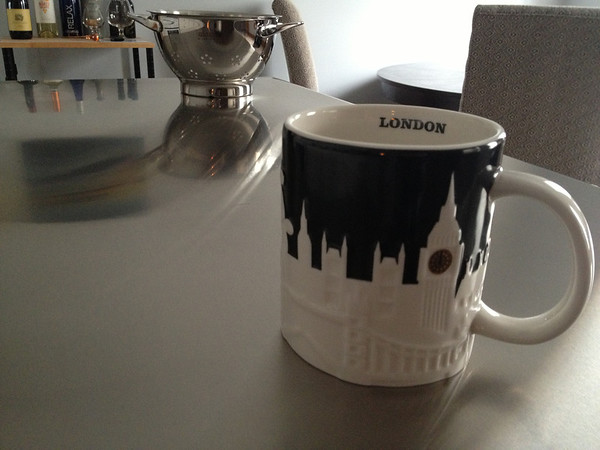 My London Starbucks mug, brought over by my Aunt Liz. ;0)