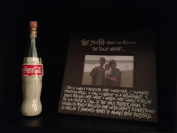 The sand in the Coke bottle is from Santa Rosa Beach, Florida — where I spent a week with the Parks at New Year's.