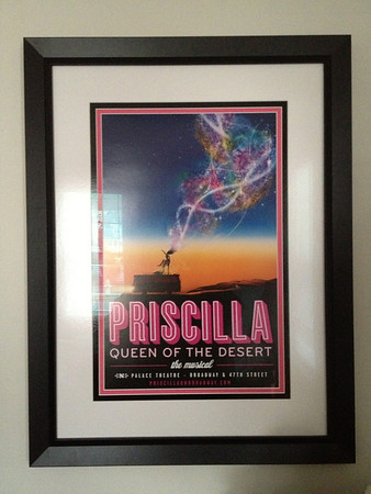 The Broadway poster of Pricilla Queen of the Desert — Karen and I went to see this in December 2011.