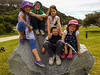 The famous rock at Apex Park in Narooma. Kids have to have a group photo each time we stay.