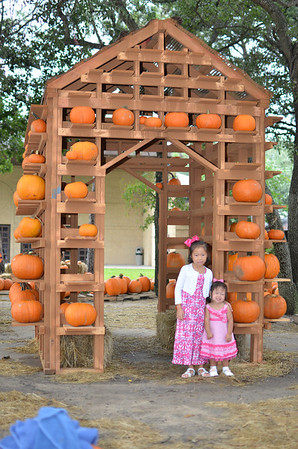 October 13, 2013 - Girls at the Pumpkin Patch