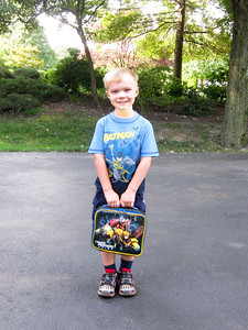 Ethan's 1st day of school.