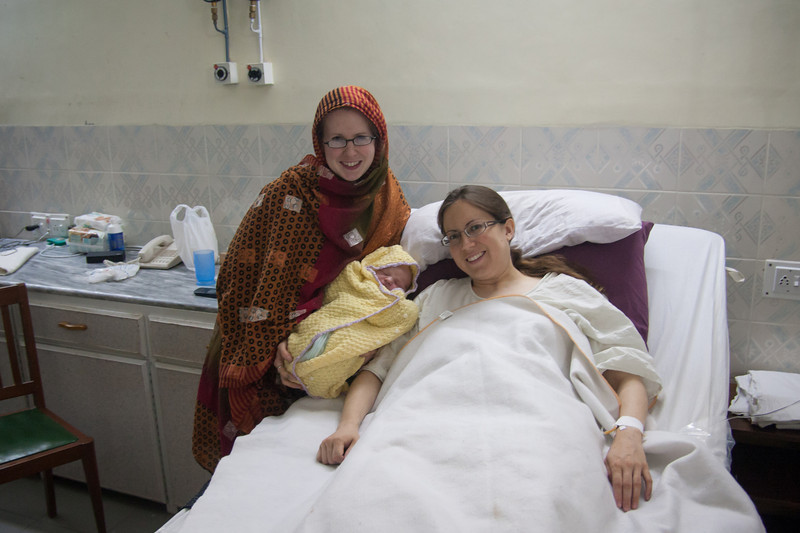 On the left is Carissa, who was a big help to Erin during  the labor and throughout the day