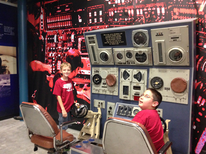 Grant & Christian in the USS Silversides Museum