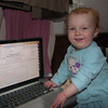 Sienna at work in her office
