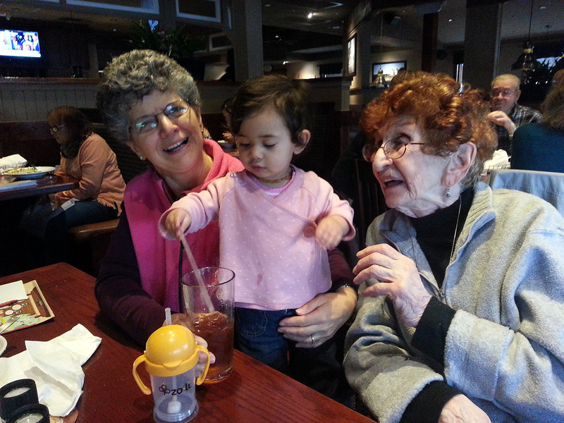 Celebrating Marion's 86th birthday.