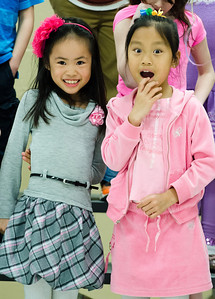Lindsay and Jasmine at the 2nd grade performance