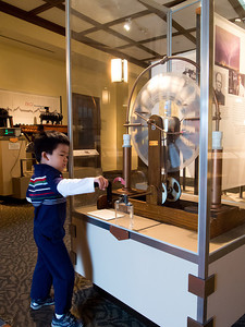 Electricy experiments at the Bakken Museum