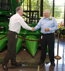 Larry Howell Retirement Coffee John Deere Worldwide Headquarters Display Floor