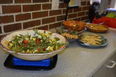 Marinated pineapple, mozzarella, tomato and fresh herbs....