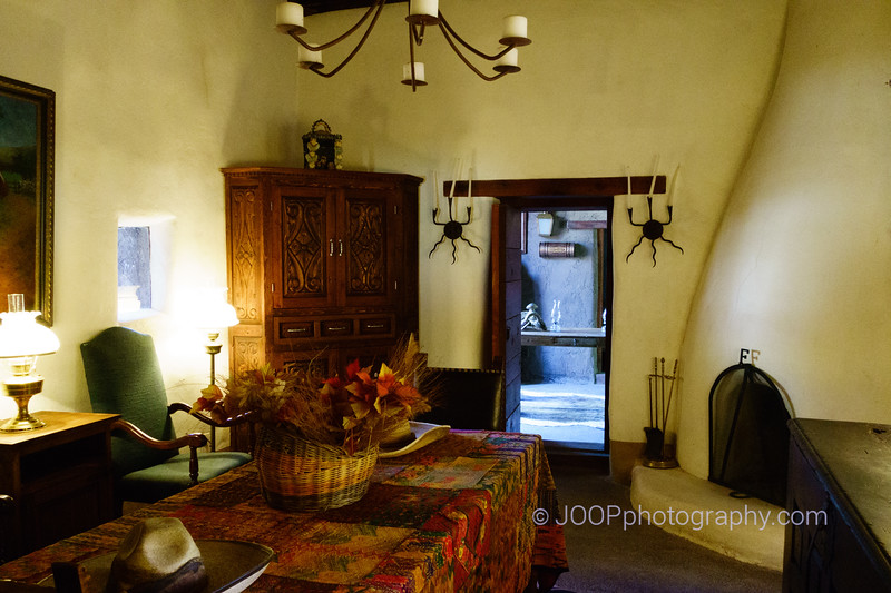 Interior of fort El Fortin