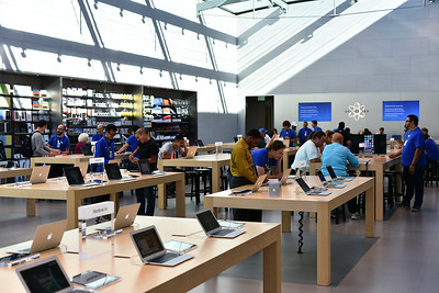Inside Apple store in Palo Alto