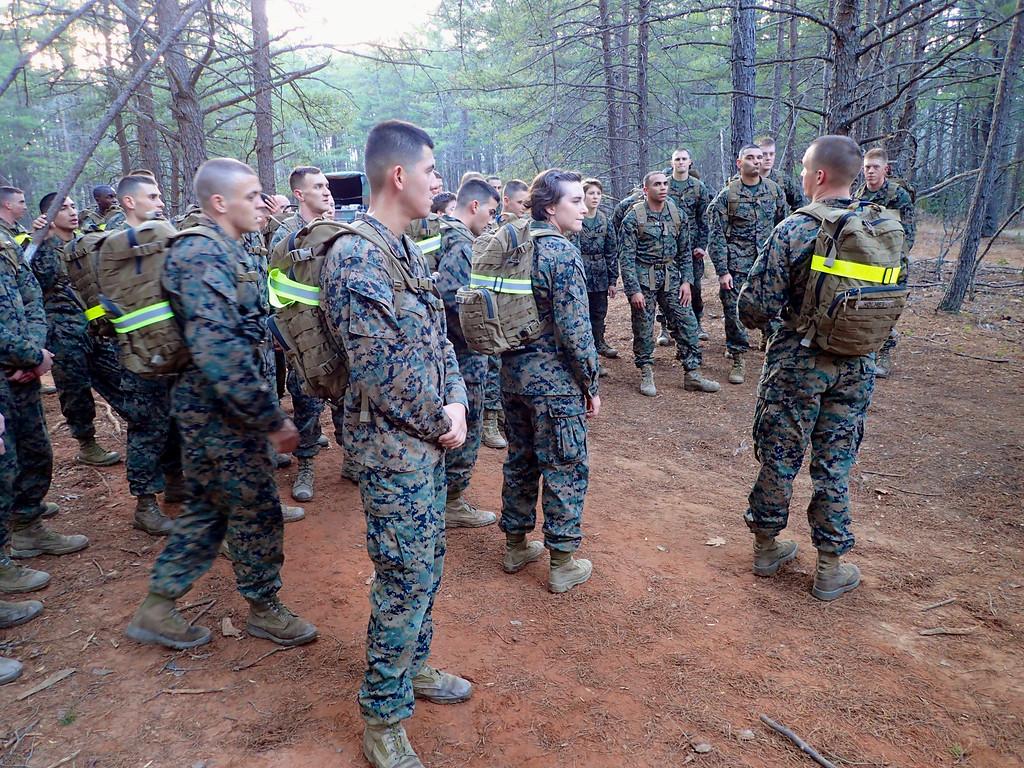 Morgan Bellmor At Marine Corps TBS E Course Orientation December 2014 02