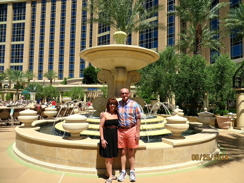 Ann & Russell Bellmor At Palazzo Hotel Pool Area Our Hotel In Las Vegas June 2014 02