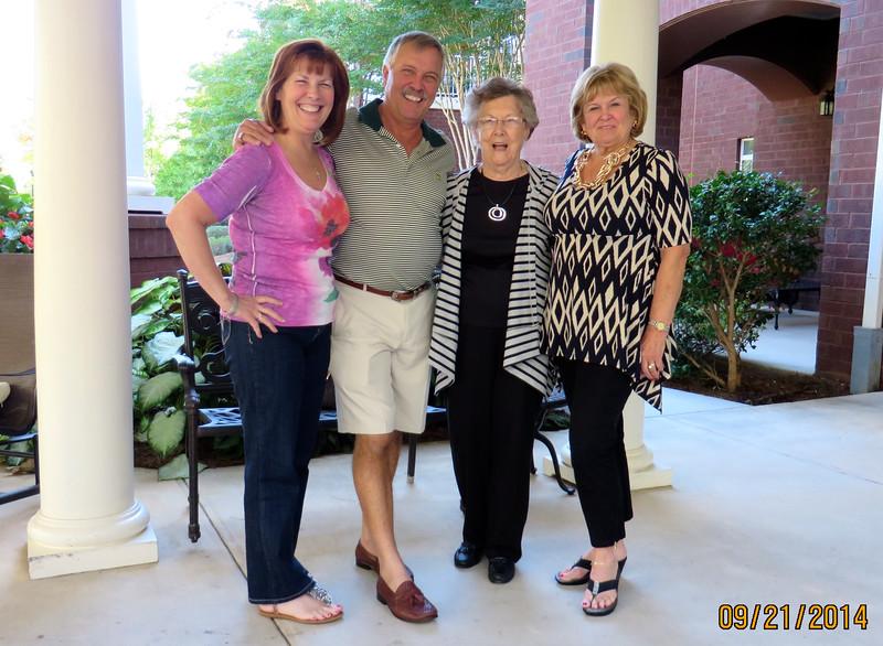 Ann Bellmor, Jimmy, Lois & Becky Snyder Sept 2014