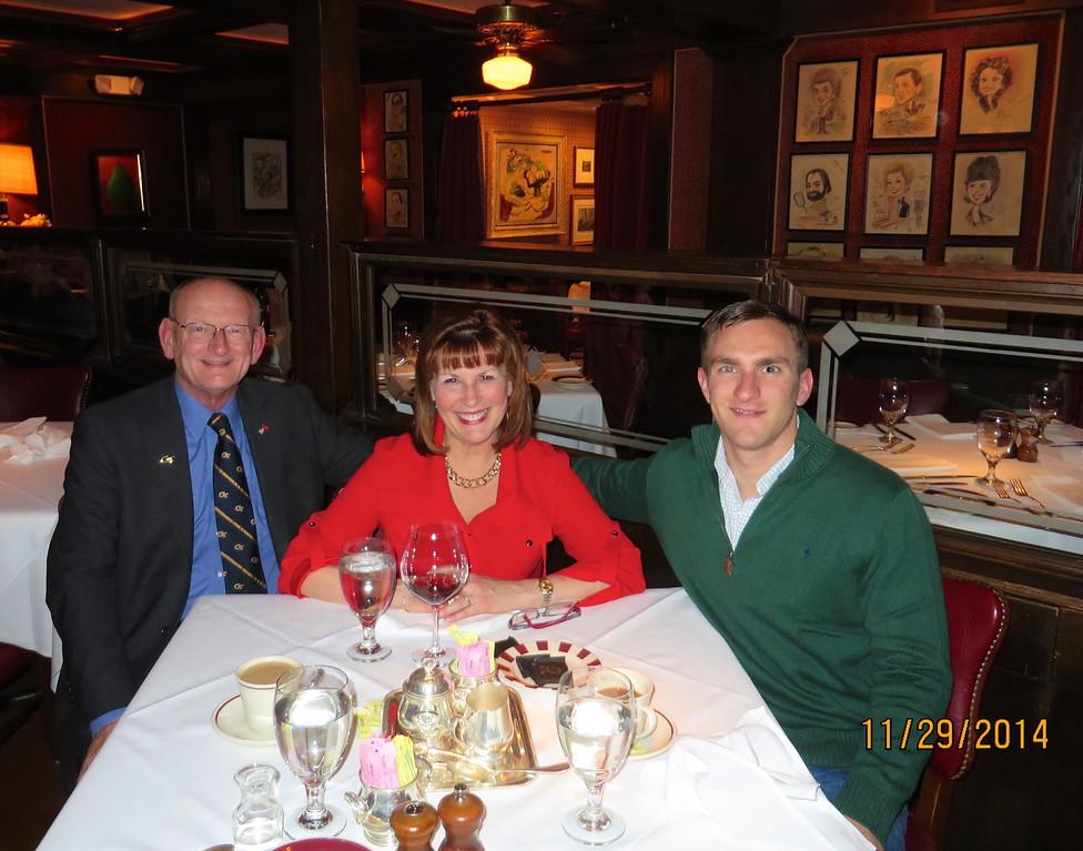 Russell, Ann & Morgan Bellmor At Bones Restaurant Atlanta, GA 11-29-14
