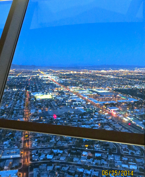 View From Stratosphere Restaurant At Night Last Dinner In Las Vegas June 2014 01