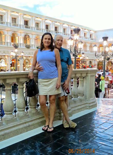 Pam & Mikel Lanza At Venice Canal Venetian Hotel Las Vegas June 2014