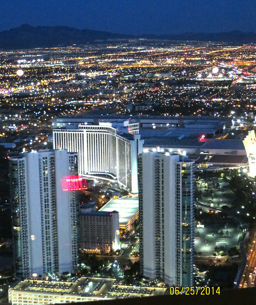 View From Stratosphere Restaurant At Night Last Dinner In Las Vegas June 2014 02