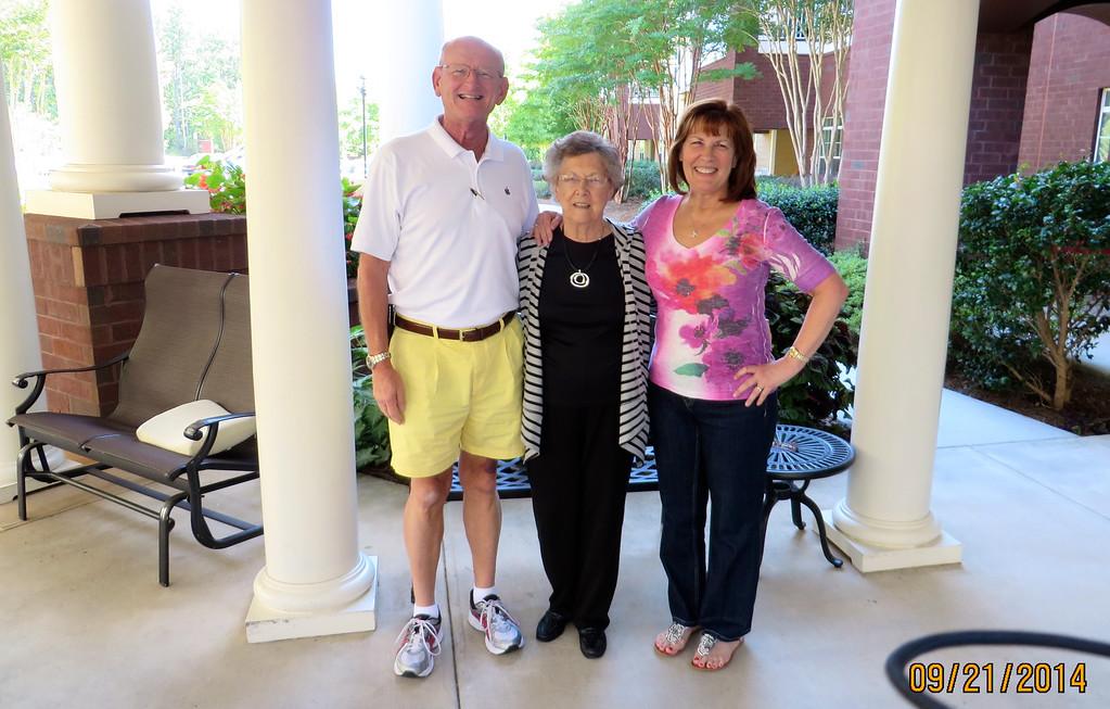 Russell Bellmor, Lois Snyder & Ann Bellmor Sept 2014