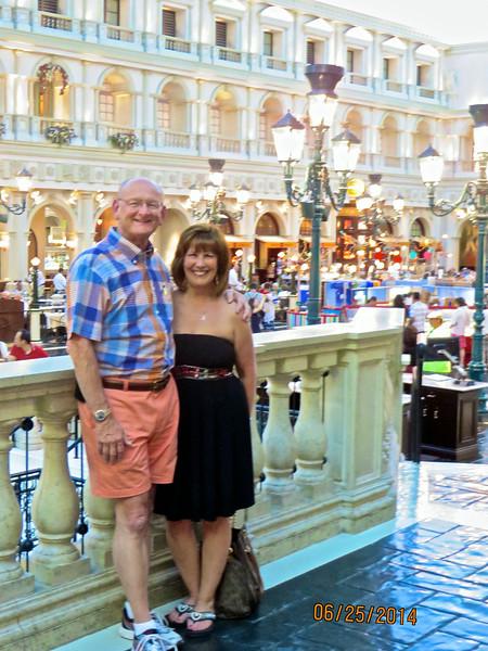 Russell & Ann Bellmor At Venice Canal Venetian Hotel Las Vegas June 2014