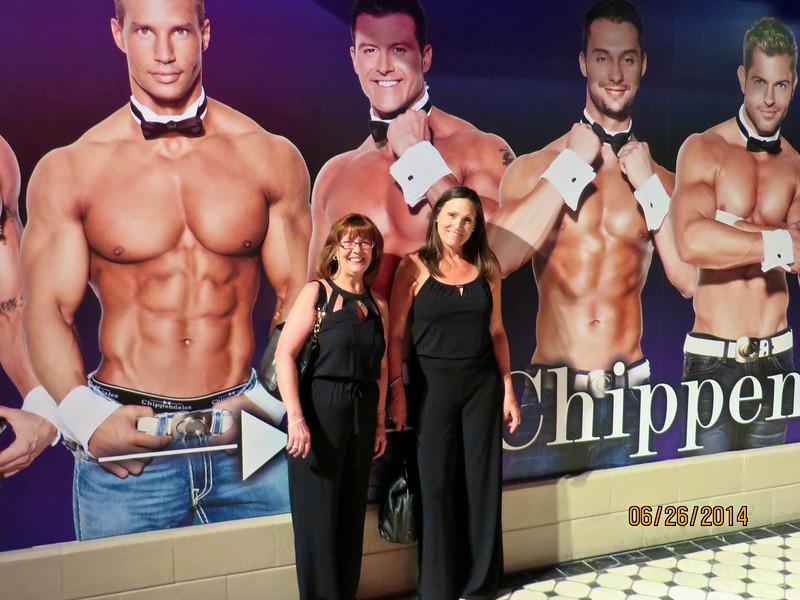 Ann Bellmor & Pam Lanza After Chippendale's Show Las Vegas June 2014