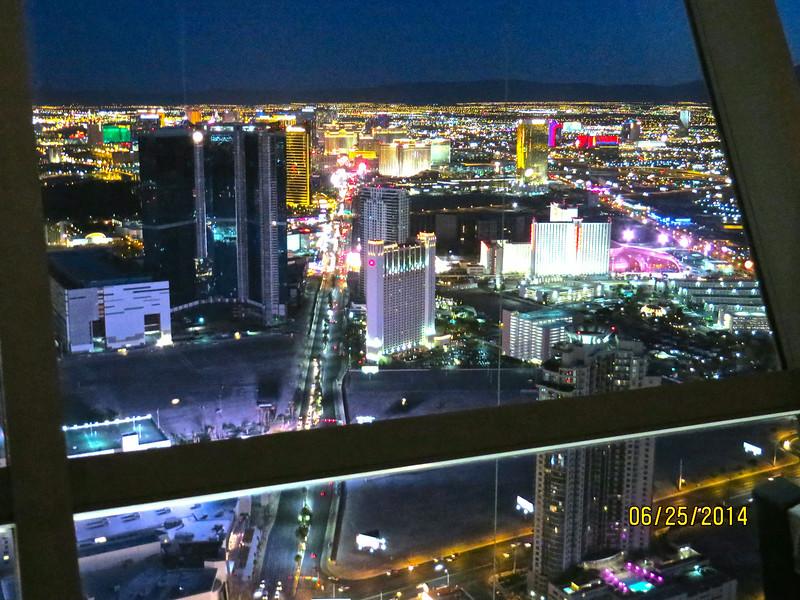 View From Stratosphere Restaurant At Night Last Dinner In Las Vegas June 2014 03