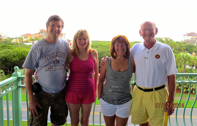Tom, O'Barr, Kathy Collier, Ann & Russell Bellmor Seacrest Beach Florida July 2014