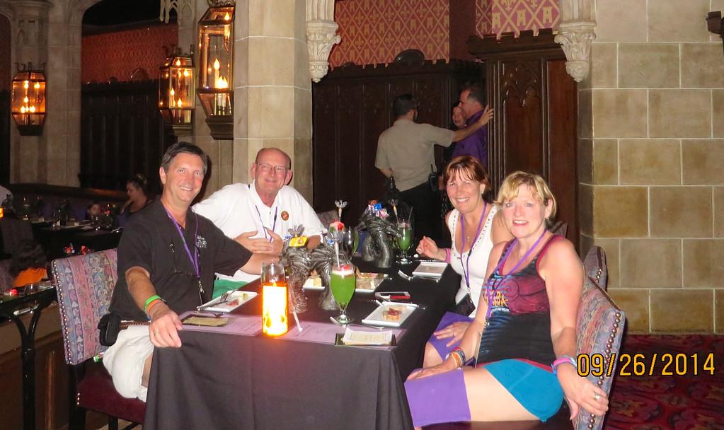 Kathy Collier, Tom O'Barr, Russell & Ann Bellmor At Disney World Castle Event September 2014