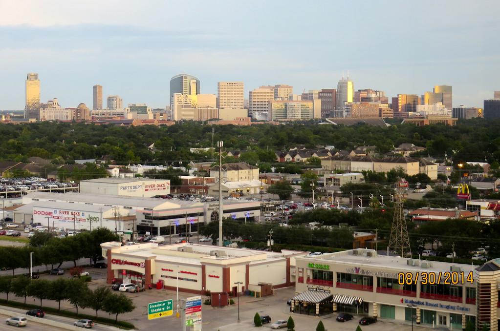 Houston Skyline From Hotel Room August 2014 02