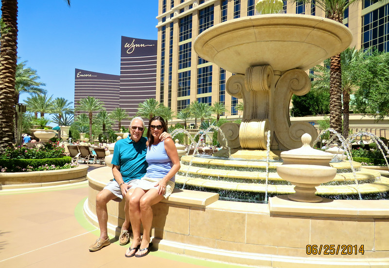 Mikel & Pam Lanza At Palazzo Hotel Pool Area Our Hotel In Las Vegas June 2014 02