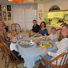 Bryan, Matthew, Shirley, Chad, Crystal, Spencer, Jenny, Chad and Crystal's birthday baked chicken dinner, 2/16/2014