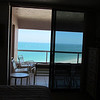 View from our bedroom of the Gulf of Mexico.  Makes nice sleeping listening to the waves! Crescent Beach, FL. 2/20/2014