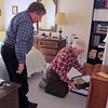 At 92 Frank can still get down to get his stamp collection!  2/23/2014