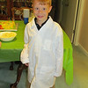 Spencer ready for his Mad Scientist 7th Birthday party, 5/3/2014