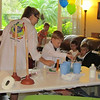 Spencer doing experiments! His Mad Scientist 7th Birthday party, 5/3/2014