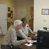 Frank and Ken going over business, Mooresville, NC, 2/21/2014