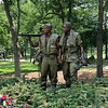 The statue of three soldiers near the Viet Nam Memorial--one Caucasian, one Hispanic, and one Black.