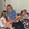 "Grandma reading ""Teddy Bear's Pinic"" to Ruby and Charlie, NYC, 6/6/2014"