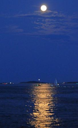 Super Moon August 2014 - Boston Harbor