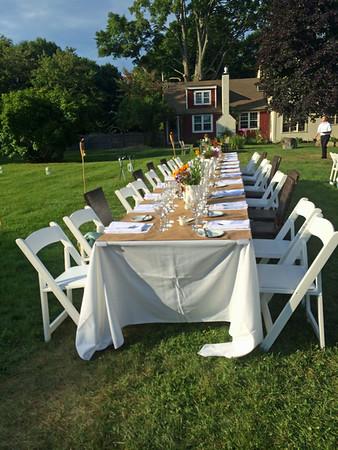 August Nancy Birthday dinner - Apple Street Farm Essex