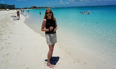 July Turks - Nancy on Grace Bay Beach