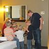 Playing Chinese Checkers. Grandma and her grandchildren and Ryan. Contemporary Hotel, Disney, 11/25/2014, Jenny's camera