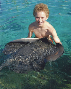 Swimming with sting rays and sharks - super cool!