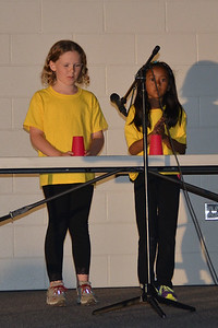 Maya & her friend Andrea performed the cup song at the talent show