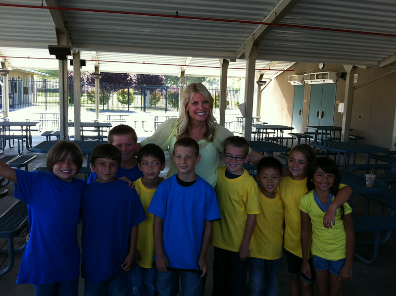 Noah's 2nd grade friends and Ms. Leedom