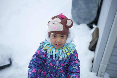 2014-01-12 Leah jumping / snow