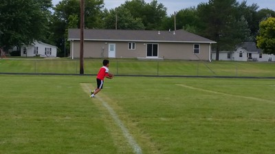 2014-09-14 Dylan Flag Football Practice