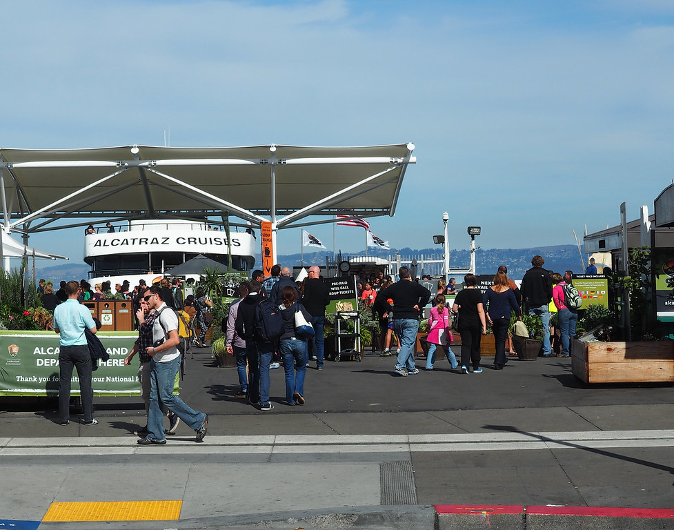 Ready to board for Alcatraz!